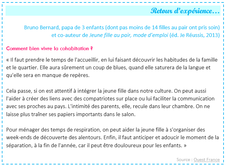 exemple de lettre fille au pair